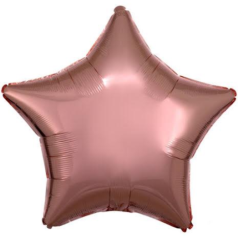 Folieballong, stjärna metallic rosé 45 cm