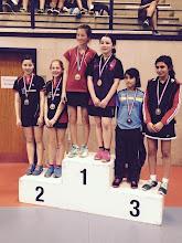 Photo: 67 Doubles 2015 Double Dames Minimes Médaille d'Argent: Mei-Li HELDT/Suzanne HEY