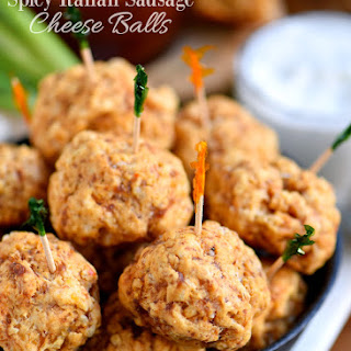 Spicy Italian Sausage Cheese Balls Recipe