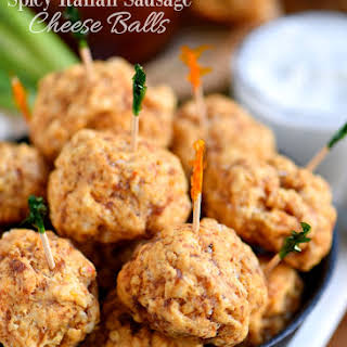 Spicy Italian Sausage Cheese Balls.
