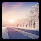 Winter-Straße Live Hintergrund icon
