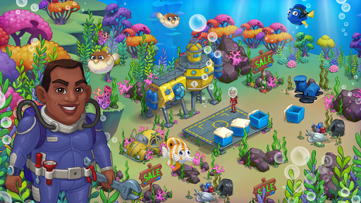 Aquarium Farm: fish town, Mermaid love story shark  screenshots 23