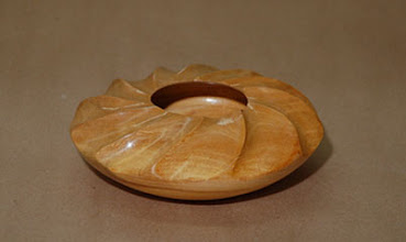 "Photo: David Jacobowitz - Fluted Disc Bowl - 5"" x 2"" - Sycamore"