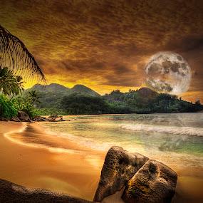 Moonrise by William Underwood  - Digital Art Places