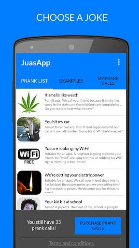 JuasApp - Prank Calls screenshot 1
