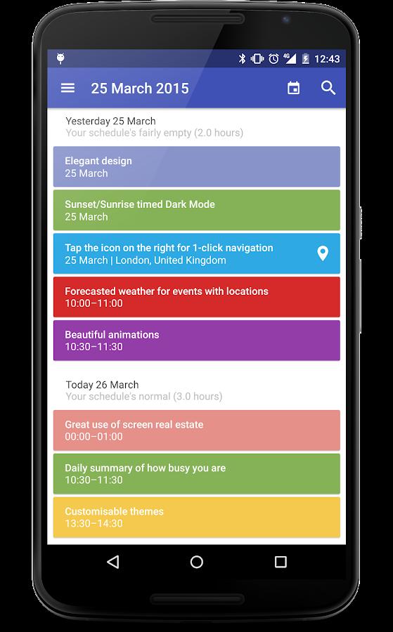 Today Calendar - screenshot