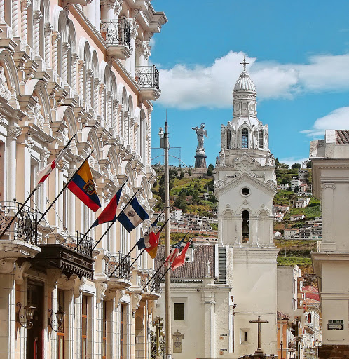 Some of the captivating colonial-style architecture you'll see on a visit to Quito, Ecuador.