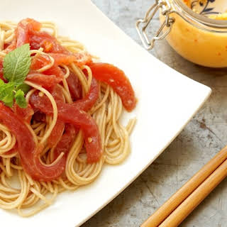 Asian Raw Tuna & Soba Noodles.