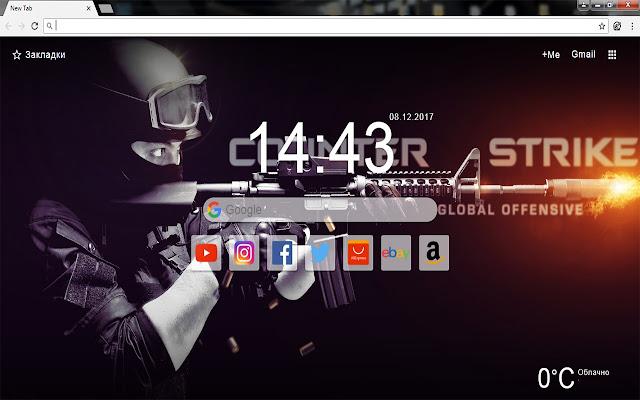 CS GO - New Tab Wallpapers Themes HD
