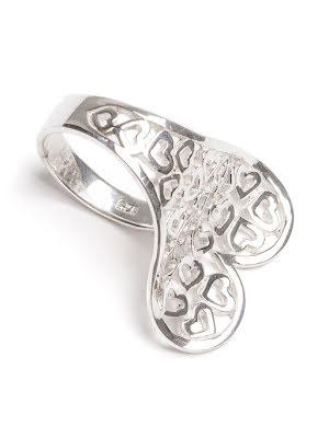 Silverring hjärta