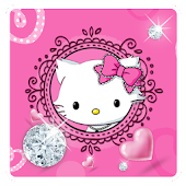 Diamond Cute Cat Keyboard Theme