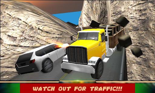 陡峭的山坡爬上卡车驱动器