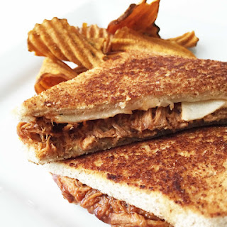 Healthified B.B.Q. Pulled Pork Grilled Cheese