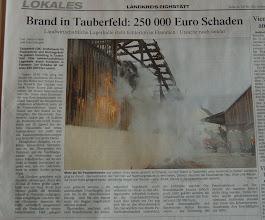 Photo: Zeitungsbericht im Donaukurier vom 22.08.2007