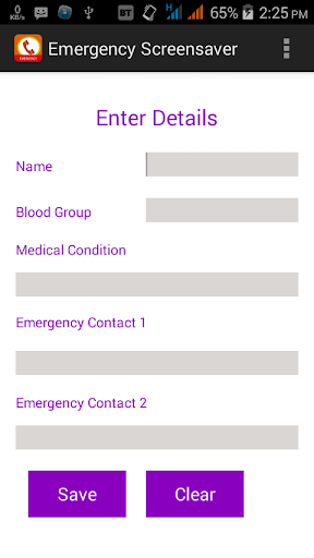 Emergency Screensaver