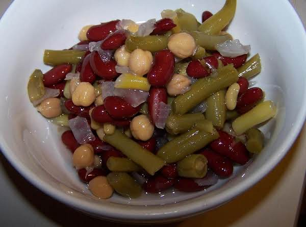 Three Bean Salad Is Always A Great And Easy Way To Enjoy Summer's Bounty. Great For Picnic's And Potlucks. This Make-ahead Dish Is Always A Favorite At Bbq's Too.