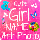 Cute Girl Name on Photo Quotes icon