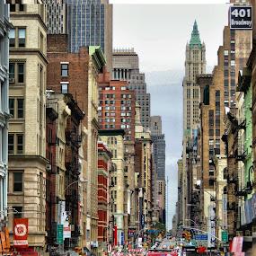 New York City by Roxana McRoberts - City,  Street & Park  Street Scenes