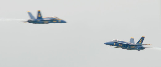 Photo: Blue Angels practice for the Fargo Air Sho. Thrusday, June 12, 2007, ©2007 Bob Nelson