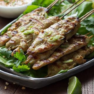 Thai Chicken Satay with Easy Peanut Sauce Recipe