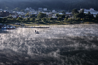 Photo: Morning Mists  An early morning shot of Lake Kawaguchi - I'd gone out around 0530 with my mother to photograph Mt. Fuji (those images turned out to be fairly average, but I may post it later anyway), but my favorite shot of the morning ended up being of the lake, shot quickly as we were walking back for breakfast.  #Japan  #Kawaguchiko  #Mists  #Lake  #Morningmist