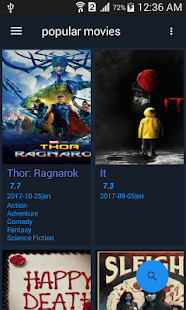 Popular Movies App - náhled
