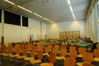 Photo: In der Halle ist alles bereit