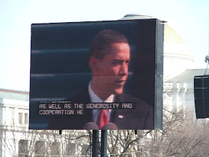 Photo: And now we have a new president, who is very clearly larger than life.