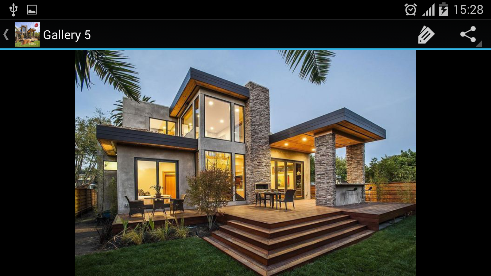Modern house designs android apps on google play for Pics of modern houses