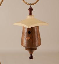 Photo: Mike Twenty  mini-birdhouse [walnut, holly, bloodwood] {bring back challenge}