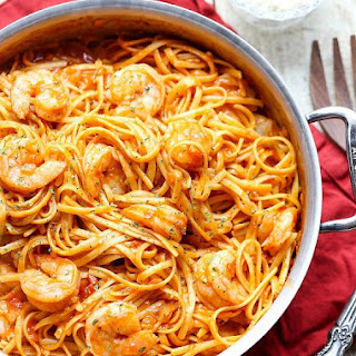 One Pot Shrimp Pasta