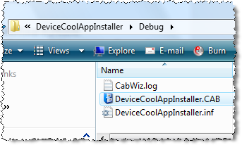 Mobile PractiCEs: How to create a windows mobile (Smart Device)  Cab