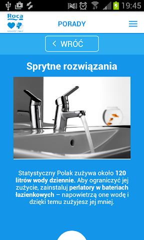 android Lubię Wodę - Roca Screenshot 2