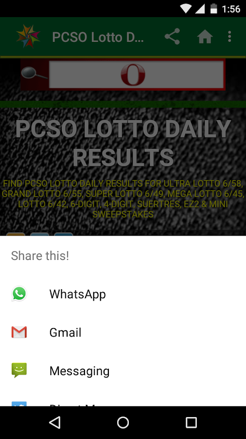 lotto results philippines 6 45 today
