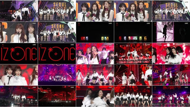 190115 (720p+1080i) IZONE Part – ソウルミュージックアワード2019