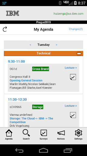 IBM Event Agenda Portal