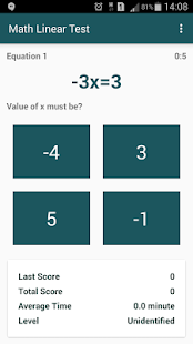 Math Linear Test- screenshot thumbnail