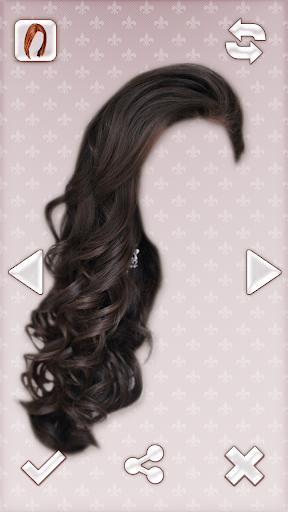 女性髮型 照片蒙太奇