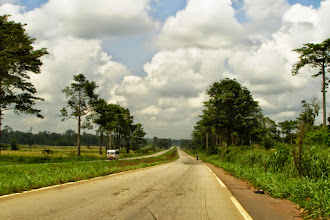 Photo: National motorway to Abidjan