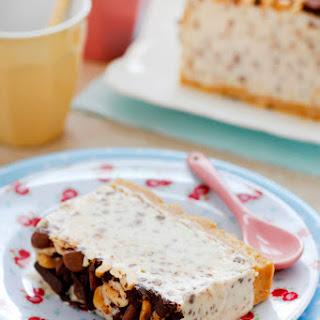 Chocolate and Peanut Butter Ice Cream Cake.