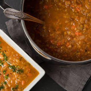 Apricot and Red Lentil Soup.