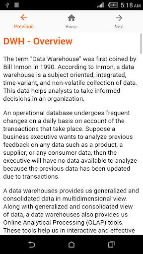 Data Warehouse Tutorial 1.0 screenshots 2