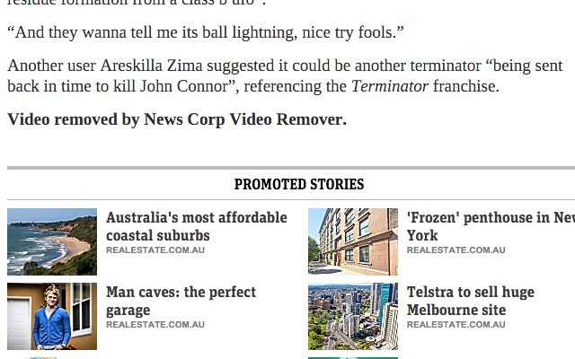 News Corp Video Remover
