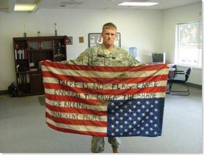 Não há nenhuma bandeira grande o bastante para cobrir a vergonha de matar pessoas inocentes