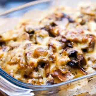 Cheesy Mushroom Potato Casserole.