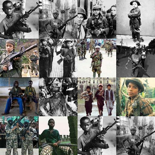 quelques clichés d'enfants soldats