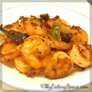 Spicy Ginger-Chilli Prawn Fry
