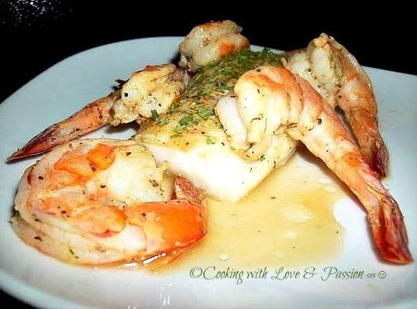 Pan Seared Cod And Shrimp