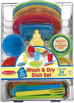 Melissa & Doug Wash & Dry Dish Set - 24 Pieces