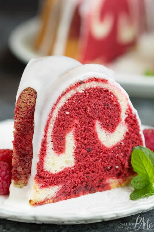 "Vanilla Red Velvet Marbled Pound Cake Recipe ""Vanilla Red Velvet Marbled Pound..."